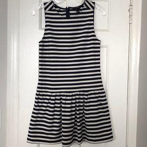 EUC Forever 21 Navy & Cream Striped Dress Sz Small